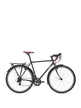 Adventure Flat White Unisex Touring Bike 54Cm Frame