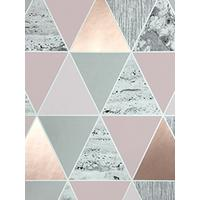 Graham Brown Reflections Rose Gold Wallpaper