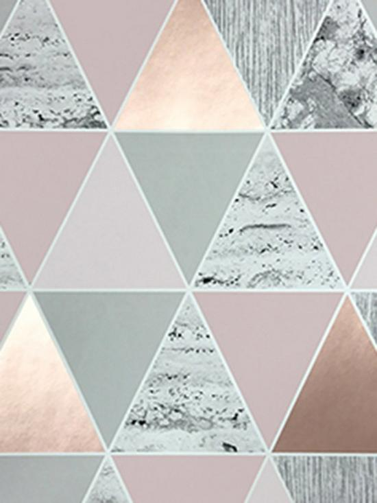 Graham Brown Reflections Wallpaper Rose Gold Very Co Uk