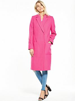 V By Very Hot Pink Longline Coat