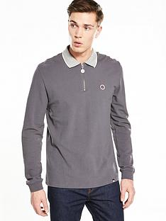 pretty-green-grindle-zip-polo