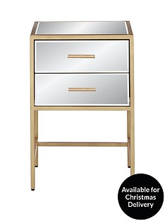 gold-ready-assembled-2-drawer-mirror-and-metal-bedside-chest