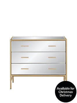 gold-ready-assembled-mirror-and-metal-3-drawer-chest