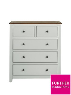Luxe Collection Newport Painted Ready Assembled 3 + 2 Drawer Chest
