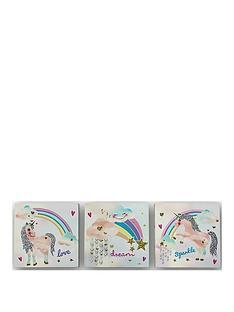arthouse-rainbow-unicornnbspcanvas-prints-set-of-3