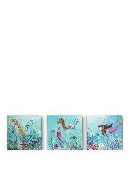 arthouse-mermaid-world-canvases-set-of-3