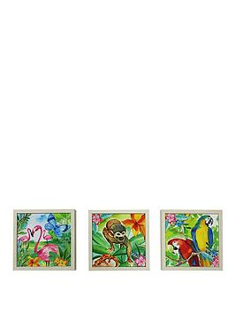 arthouse-jungle-mania-framed-canvas-prints-set-of-3