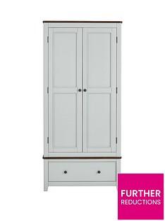 Luxe Collection Newport Painted 2 Door 1 Drawer Wardrobe
