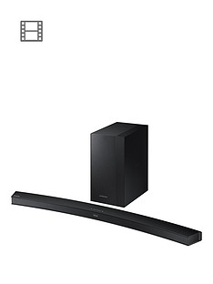 Samsung HW-M4500/XU Soundbar 2.1ch, 340W, Wireless Subwoofer - Curved, Black Metal Grille Design