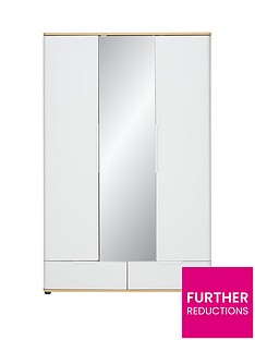 Alandra3 Door, 2 Drawer Mirrored Wardrobe