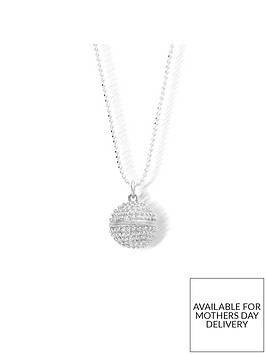chlobo-sterling-silver-diamond-cut-chain-with-dreamball-pendant-l1