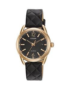 citizen-citizen-eco-drive-black-dial-black-quilted-leather-strap-ladies-watch