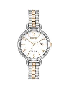 citizen-citizen-eco-drive-white-date-dial-two-tone-bracelet-ladies-watch