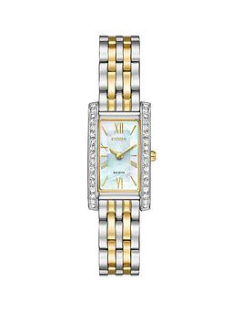 citizen-citizen-eco-drive-mother-of-pearl-dial-swarovski-crystal-two-tone-bracelet-ladies-watch