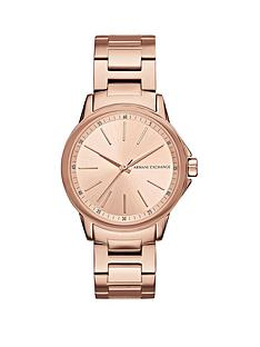 armani-exchange-rose-tone-dial-stainless-bracelet-ladies-watch