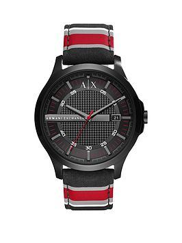 armani-exchange-armani-exchange-black-dial-fabric-stripe-strap-mens-watch