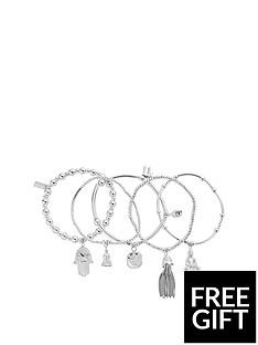 chlobo-chlobo-sterling-silver-set-of-5-karma-bracelets