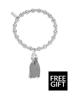 chlobo-chlobo-sterling-silver-mini-small-ball-tassel-bracelet