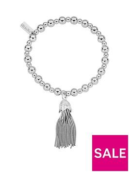 chlobo-sterling-silver-mini-small-ball-tassel-bracelet