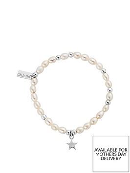 chlobo-sterling-silver-mini-pearl-star-bracelet