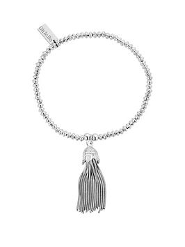 chlobo-sterling-silver-mini-disc-tassel-bracelet