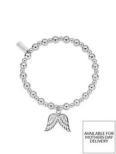 chlobo-sterling-silver-mini-small-ball-double-angel-wing-bracelet