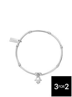 chlobo-chlobo-sterling-silver-mini-noodle-sparkle-rice-didi-hamsa-hand-charm-bracelet