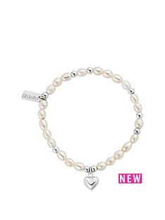 chlobo-chlobo-sterling-silver-mini-pearl-heart-bracelet