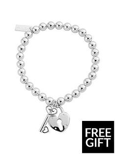 chlobo-chlobo-sterling-silver-small-ball-lock-amp-key-bracelet