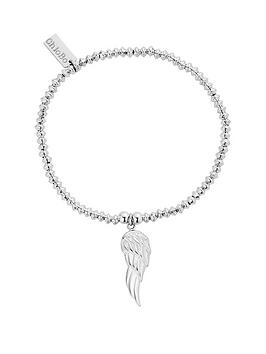 chlobo-sterling-silver-mini-disc-angel-wing-bracelet