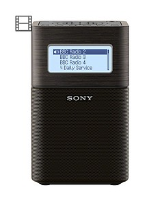 Sony XDR-V1BTD Portable DAB/DAB+ Clock Radio with Bluetooth - Black