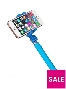 kitvision-pocket-selfie-stick-with-bluetooth-and-mirror-blue