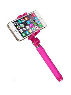 kitvision-pocket-bluetooth-selfie-stick-with-mirror-pink