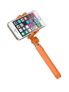 kitvision-pocket-bluetooth-selfie-stick-with-mirror-orange