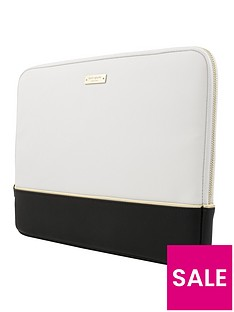 kate-spade-new-york-colour-block-13inch-macbooklaptop-sleeve-ndash-saffiano-blackcreamgold