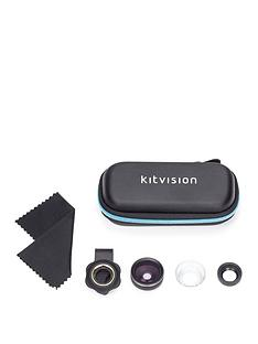 kitvision-2-in-1-photography-lens-set-for-all-smartphones-macro-amp-fisheye-lens-included
