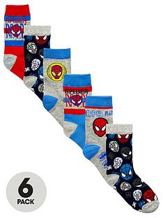 spiderman-6-pack-of-boys-socks