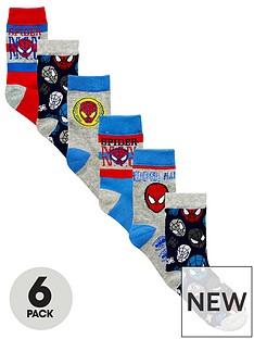 spiderman-6-pack-of-boys-socks