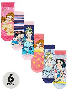 disney-princess-6-pack-of-girls-socks