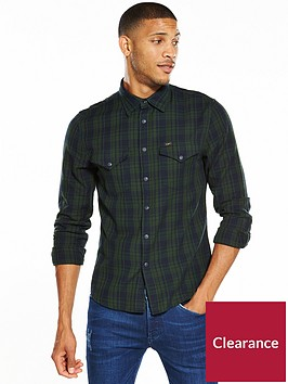 lee-long-sleeved-checked-western-shirt