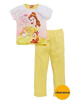 disney-beauty-and-the-beast-beauty-and-the-beast-girls-short-sleeve-pyjamas