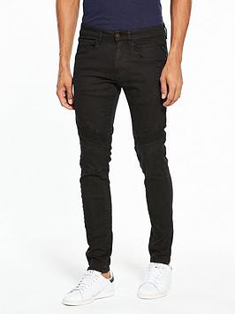 Zaldok Slim Fit Biker Jeans
