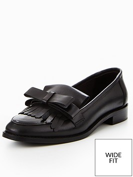 v-by-very-fudge-wide-fit-real-leather-bow-detail-loafer-black