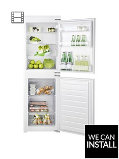 hotpoint-aquariusnbsphmcb5050aanbsp177cmnbsptallnbsp54cmnbspwide-integrated-auto-defrost-fridge-freezer-with-optional-installation-white