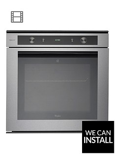 whirlpool-fusion-akzm6550ixl-built-in-electric-single-oven-stainless-steel