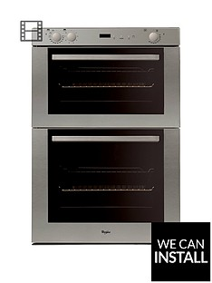 whirlpool-akw301ix-built-in-electric-double-oven-with-optional-installation-stainless-steel