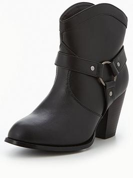 v-by-very-spice-buckle-detail-western-boot-black