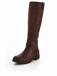 v-by-very-puddles-riding-boot-with-piping-detail-dark-brown