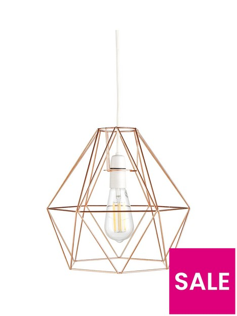 harlow-large-copper-diamond-easy-fit-shade