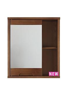 westbaynbspsolid-wood-mirrored-bathroom-wall-cabinet